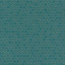 Rasch Vlies Tapete Muster & Motive 550368 Highlands Blau-petrol 0.53 x 10.05 m