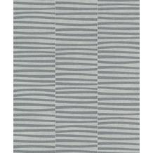 Rasch Vlies Tapete Streifen 542035 Glam Silber-silbergrau 0.53 x 10.05 m