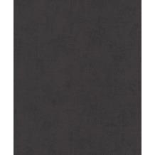 Rasch Vlies Tapete Uni 541809 Glam Schwarz-Anthrazit 0.53 x 10.05 m