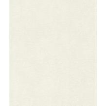 Rasch Vlies Tapete Uni 541816 Glam Weiß-cremeweiß 0.53 x 10.05 m