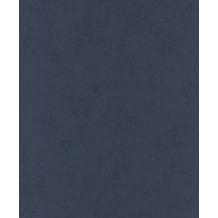 Rasch Vlies Tapete Uni 541830 Glam Blau-nachtblau 0.53 x 10.05 m