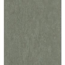Rasch Vlies Tapete Uni 550078 Highlands Grün-graugrün hell 0.53 x 10.05 m