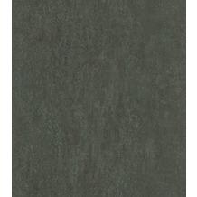 Rasch Vlies Tapete Uni 550085 Highlands Grün-graugrün dunkel 0.53 x 10.05 m