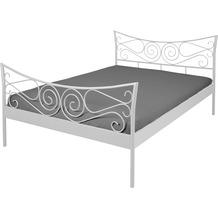 Reality Import Doppelbett Justine Metall weiß lackiert Matratzenmaß: 140x200
