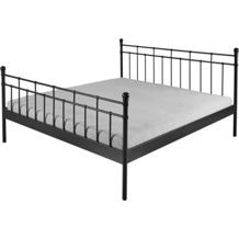 Reality Import Doppelbett Verena Metall schwarz lackiert Matratzenmaß: 140x200