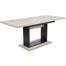 Reality Import Esstisch Richard, Spanplatte Grey Oak-schwarz, ausziehbar