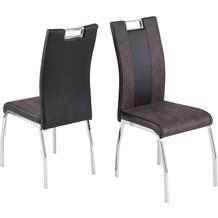 Reality Import Stuhl Bari 2 Lederlook/Softtex schwarz/grau