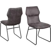 Reality Import Stuhl Titan 4 Bezug Vintage grau Gestell Drahtgestell schwarz