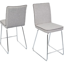 Reality Import Tresenhocker Alex 3 Webstoff hell-grau grau,Sitzhöhe 62cm,45x59x103cm