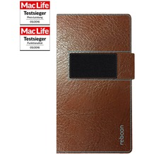 reboon booncover Smartphone Ledertasche - Apple iPhone 6S Plus/7 Plus - Größe XS2 - braun