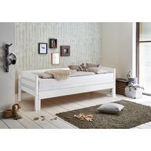 relita Einzelbett EMILIA 90/180x200 Buche massiv weiß