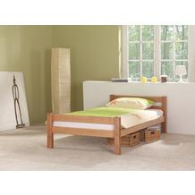 relita Einzelbett HELGA inkl. Rollrost lackiert Breite 90 natur