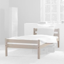 relita Einzelbett HELGA inkl. Rollrost lackiert Breite 90 weiß