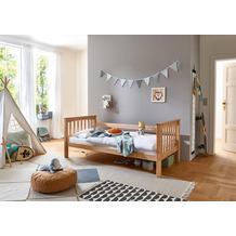 relita Einzelbett KICK, 90x200  Buche weiß lackiert