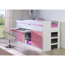 relita Funktionsbett BONNY KORPUS weiß Fronten rosa (inkl. Rollrost und Fronten) weiß + rosa