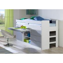 relita Funktionsbett BONNY KORPUS weiß Fronten silber (inkl. Rollrost und Fronten) weiß + silber