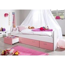 relita Kojenbett BONNY KORPUS weiß Fronten rosa (inkl.  Fronten) weiß + rosa