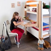 relita Schreibtisch PLUTO, Buche massiv lackiert natur