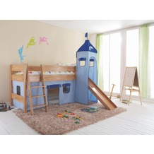 relita Stoffset mit Turm für Betten mit Rutsche blau-Delphin