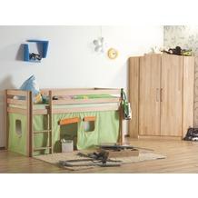 relita Stoffset ohne Turm für Halbhochbetten grün/orange