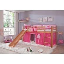 relita Stoffset ohne Turm für Halbhochbetten pink/rosa