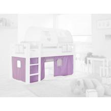 relita Stoffset ohne Turm für Halbhochbetten purple/weiß