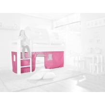 relita Stoffset ohne Turm für Halbhochbetten rosa/weiß
