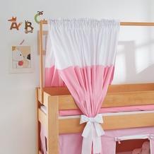 relita Zeltstoffset für Spielbett LEO rosa/weiß-Herz