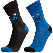 REPLAY CASUAL Logo Replay Sport&Stars 2 Paar Banderole black/cobalt blue 35/38