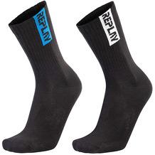 REPLAY TENNIS half terry Leg Stripe&Logo 2 Paar Banderole black/black 35/38