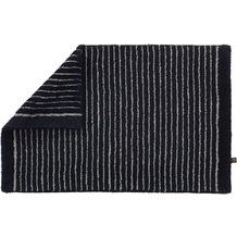 RHOMTUFT Badteppich LIN schwarz/natur 50 cm x 75 cm