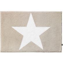 RHOMTUFT Badteppich STAR stone/weiss Wunschmaß