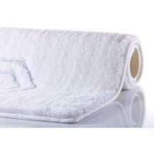 RHOMYhome Badteppich ELEGANCE weiß/silber 50x60 cm
