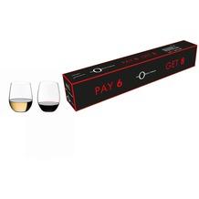 """Riedel """"O"""" Wein Tumbler, """"O"""" Cabernet + """"O"""" Viognier/Chardonnay Gläser 8 zum Preis von 6"""
