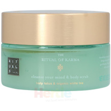 Rituals Karma Cleanse Your Mind & Body Scrub Holy Lotus & Organic White Tea, Körperpeeling 250 gr