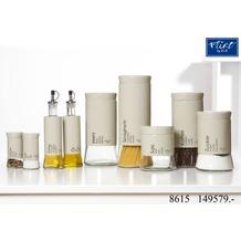 Ritzenhoff & Breker Flirt by R&B Essigflasche 7x7x25cm Zylindrisch 320ml CANTINA beige klar