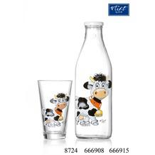 Ritzenhoff & Breker Flirt by R&B Milchflasche Glas 8x8x27cm konisch HEIDI bunt