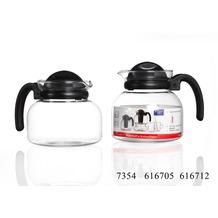 Ritzenhoff & Breker Teekanne Glas 14x14x13cm Bauchig 1l JAVA klar schwarz