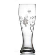 Ritzenhoff & Breker Weizenbier Glas 8x8x23cm rund 0,5l satiniert klar