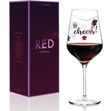 Ritzenhoff Rotweinglas von Lenka Kühnertová Weinreben, Blätter, Schrift 580 ml