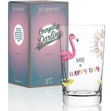 Ritzenhoff Softdrinkglas von Michaela Koch Schriftzug, Flamingo, Illustration 300 ml