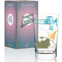 Ritzenhoff Softdrinkglas von Pedrazzini / Perilli Schriftzug, Illustration 300 ml