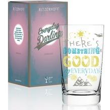 Ritzenhoff Softdrinkglas von Petra Mohr (Something Good) Schriftzug, Illustration 300 ml