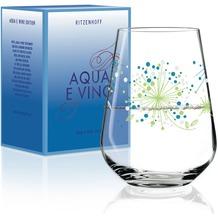 Ritzenhoff Wasser- und Weinglas von Véronique Jacquart Illustration 540 ml, blau-grün