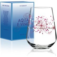 Ritzenhoff Wasser- und Weinglas von Véronique Jacquart Illustration 540 ml, lila