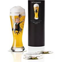 Ritzenhoff Weizenbierglas von Debora Jedwab Mann, Krone 500 ml