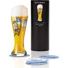 Ritzenhoff Weizenbierglas von Martina Schlenke Mann, Oktoberfest 500 ml