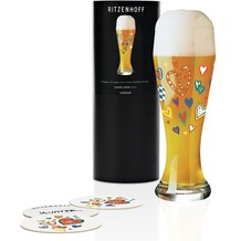 Ritzenhoff Weizenbierglas von Ulrike Vater Herzen, Brezel 500 ml