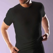 RJ Bodywear RJ men's Stretch Cotton T-Shirt Kurzarm, schwarz L