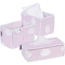 Roba 3er Set: Feuchttuchorganizer, 2x Windelbox Kleine Wolke rosa
